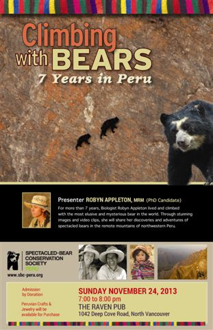 Climbing with Bears 7 years in Peru w Robyn Appleton