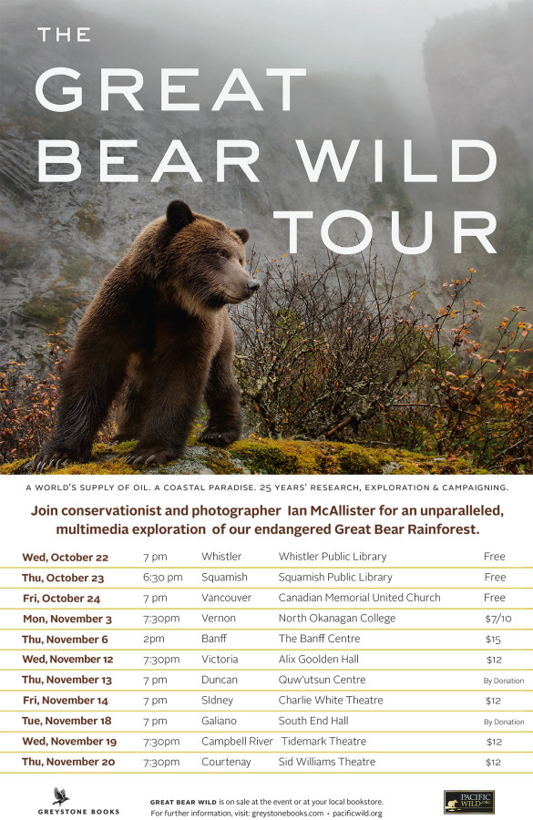 Great Bear Wild Tour & Book Launch Oct/Nov'14