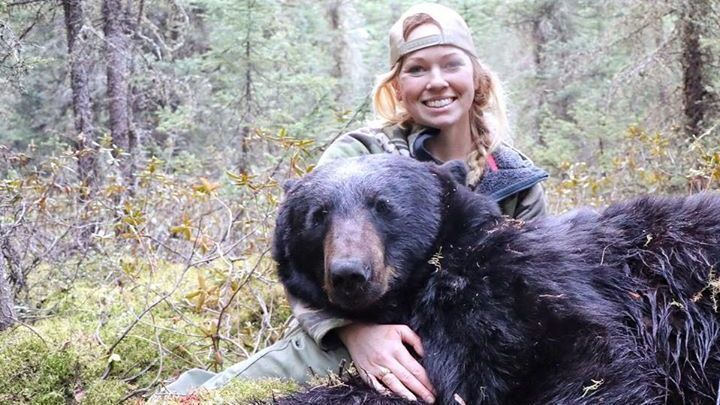 Picture: Under Armour Trophy Hunter poses with a Grizzly